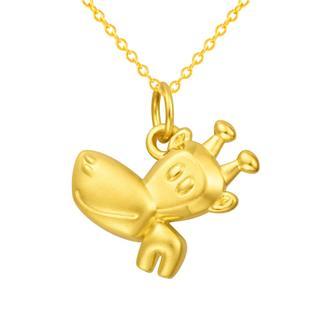 潮宏基 Paul Frank(大嘴猴)24K纯帅系列 小伙伴 3D硬金 黄金/足金吊坠