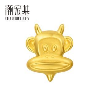 潮宏基 Paul Frank(大嘴猴)24K纯帅系列 淘气鬼 3D硬金 黄金/足金串珠