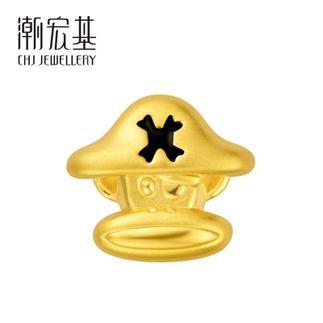 潮宏基 Paul Frank(大嘴猴)24K纯帅系列 海盗侠 3D硬金 黄金/足金串珠