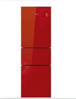 Midea/美的 BCD-216TGSM/水墨红/省电节能 美的三门冰箱