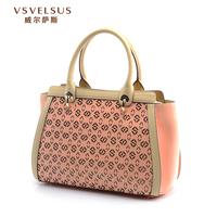 vsvelsus名牌包包镂空单肩手提包VA3095女士高档牛皮女包