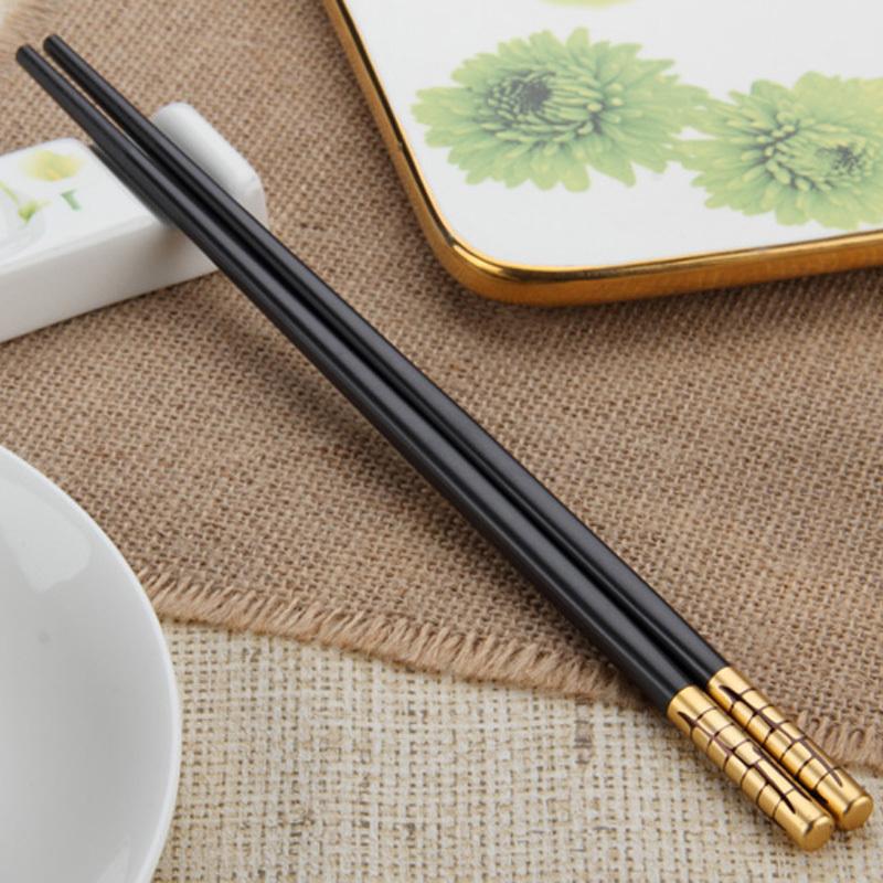 【满50包邮】筷之语hjk840金色年华精品筷 4双装 高档图片