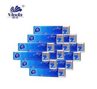 维达手帕纸巾蓝色经典超韧系列纸无香型加厚4层12包/条共8条  0036*8