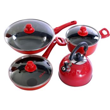 安在厨具 四件套20cm汤锅30cm炒锅24cm煎盘20cm鸣笛水壶AT1204-04