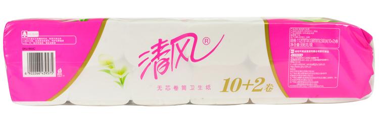 【天顺园店】清风中长卷卫生纸b03c1*12(编码:260788)