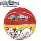 喜羊羊与灰太狼儿童玩具儿童3号胶篮球 YY-203图案颜色随机