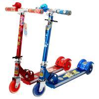 滑板车喜羊羊与灰太狼儿童滑板车YY-285 宝宝三轮滑板车 音乐闪光折叠滑滑车颜色随机发货