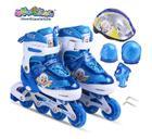 喜羊羊与灰太狼 儿童轮滑鞋YY-777 新品宝宝滑冰鞋溜冰鞋八轮全闪全套装