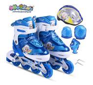 溜冰鞋喜羊羊与灰太狼 儿童轮滑鞋YY-777 新品宝宝滑冰鞋溜冰鞋八轮全闪全套装(01.15-01.30儿童体育用品满100元赠3#蓝球YY-203一个)