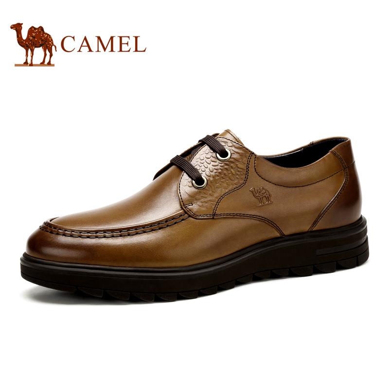 Camel 骆驼男鞋 商务正装皮鞋真皮系带商务男士皮鞋 秋季新款