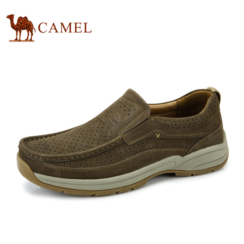 camel 骆驼休闲男鞋 春秋户外休闲鞋男士运动鞋低帮皮鞋套脚男鞋