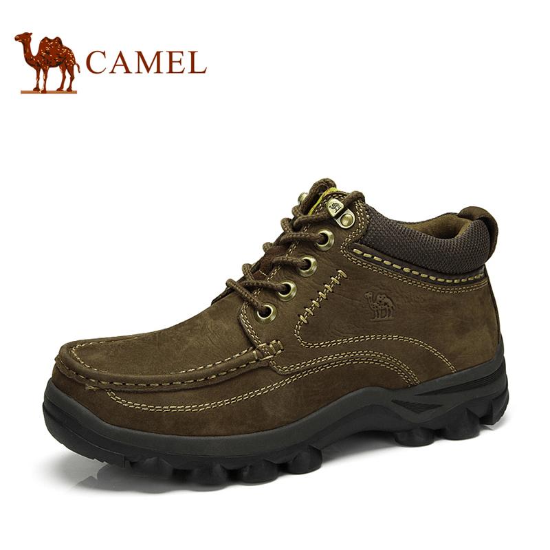 camel 骆驼男靴 真皮磨砂牛皮休闲时尚靴保暖短靴皮靴冬季新款