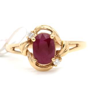 老凤祥   65000125716    彩色18K金红宝石戒指