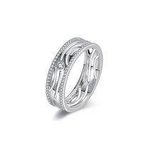 ENZO 白18K金 钻石戒指 ENZO 99 幸福系列 让爱更加巩固升温ER6005745