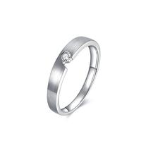 ENZO 白18K金 钻石戒指 ENZO 99 默契系列 婚戒火热倾心的爱ER6005755