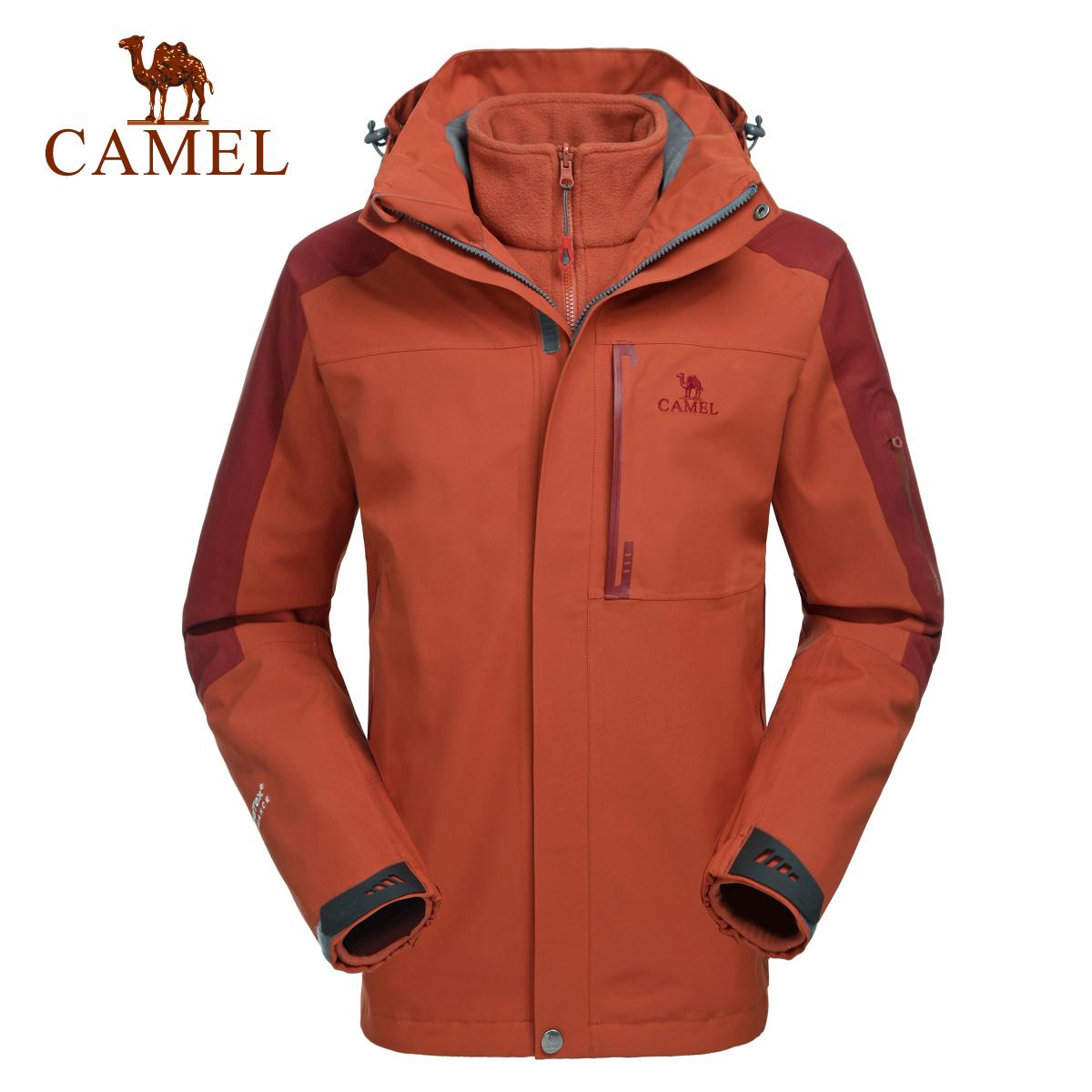 camel骆驼户外冲锋衣 冬季男款防水透气保暖三合一冲锋衣