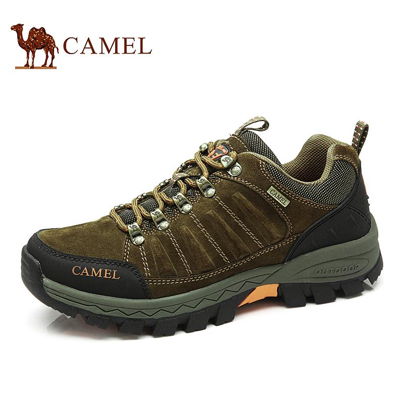 camel骆驼户外鞋徒步鞋秋冬新登山鞋磨砂牛皮男鞋防滑越野鞋