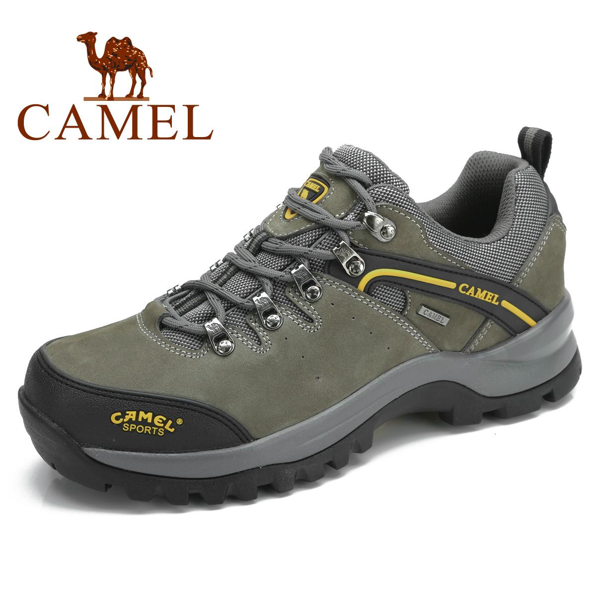 camel 骆驼登山鞋 户外男鞋登山鞋 头层牛皮 徒步鞋正品