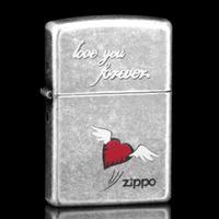 武商网国广店-专柜正品 zippo打火机 古银红心 永恒的爱 FOREVER LOVE