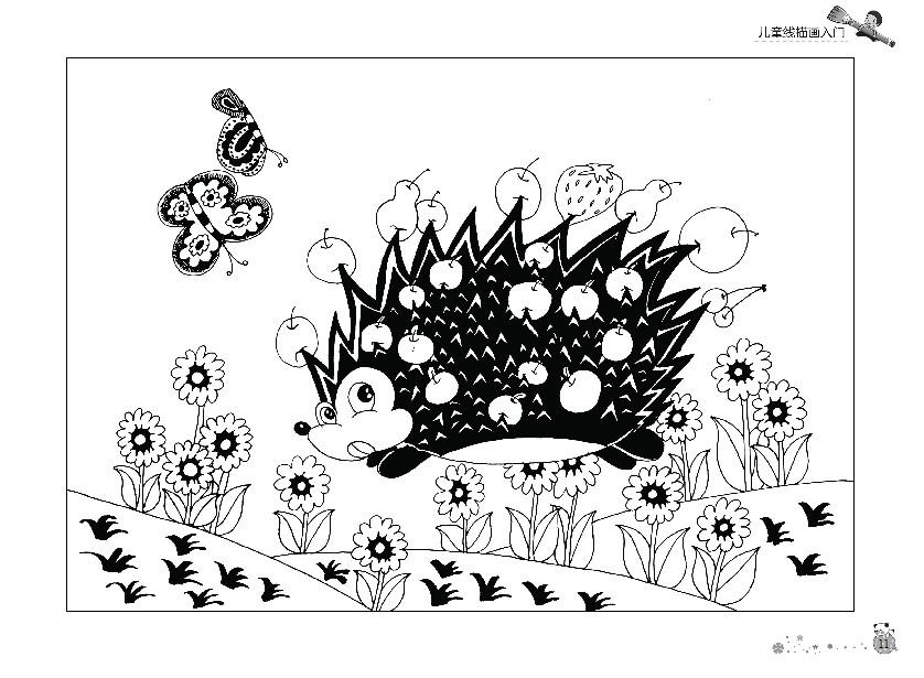 儿童线描画入门画画书6-8岁畅销幼儿童美术绘画书籍5-线描画入门篇