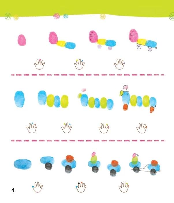 宝宝学画画书 正版手指印画书教程图书