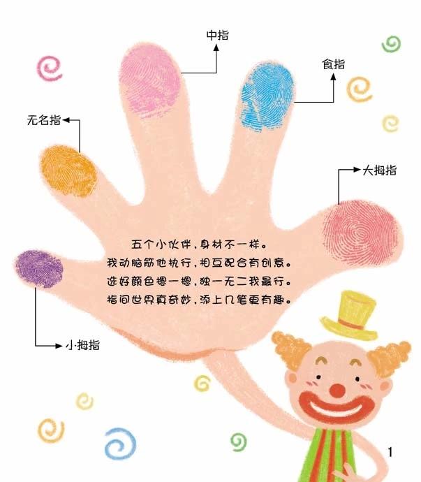 儿童创意美术绘画书 趣味手指画全2册 幼儿手指画教材图片