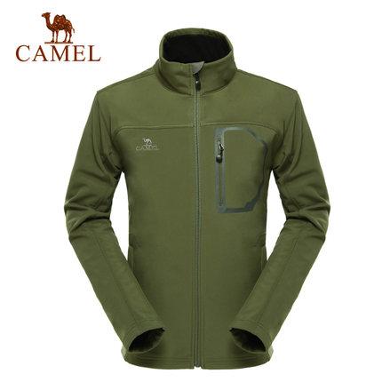 camel骆驼户外软壳衣 男士长袖开衫 男 保暖外套软壳衣户外装备