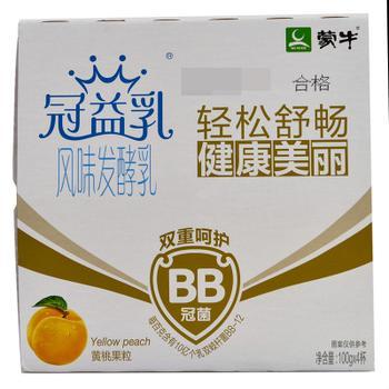 【天顺园店】蒙牛冠益乳黄桃100g*4(编码:219672)