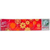 【天顺园店】清风新韧时代4层12包手帕纸210*210mm(编码:511098)