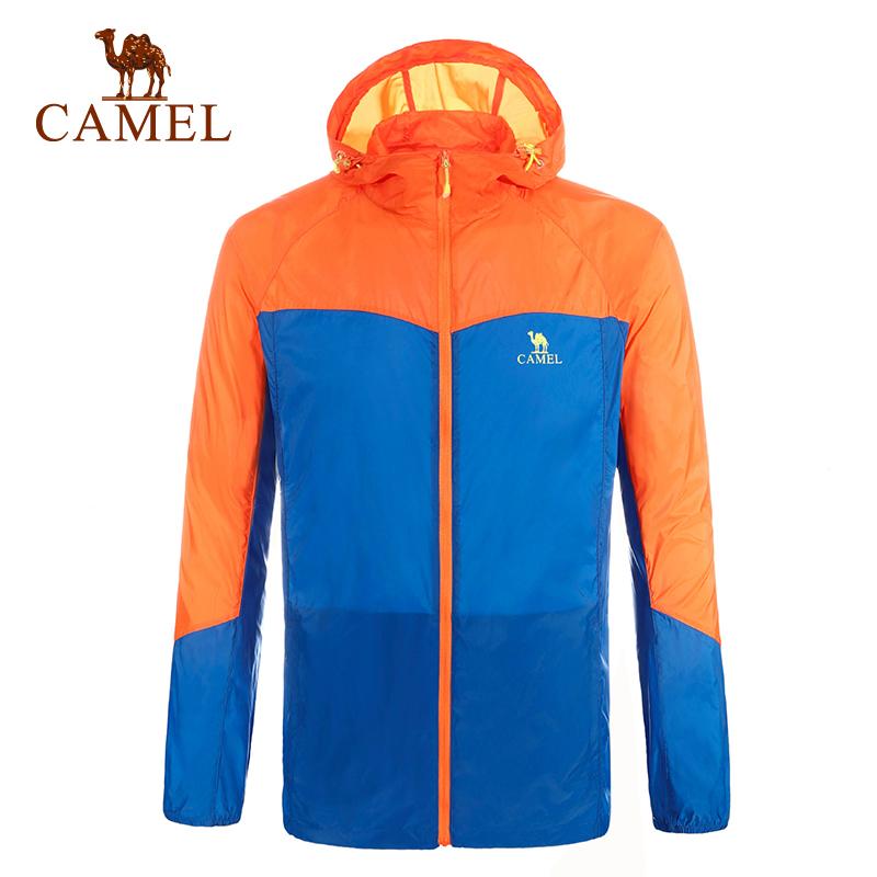 camel骆驼户外皮肤衣 男款防风透气超轻 速干皮肤风衣正品衣
