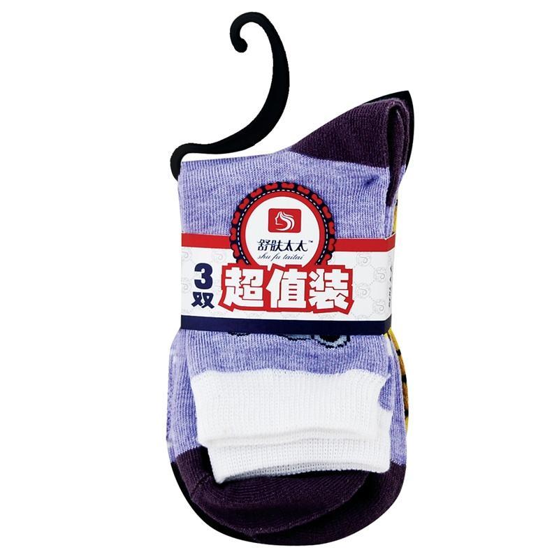 【天顺园店】☆舒肤太太3双装女袜1*1(编码:520024)