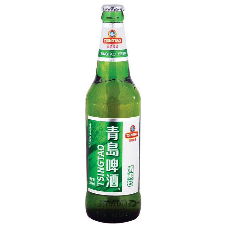 【天顺园店】青岛8°清爽瓶装啤酒500ml(编码:500009)