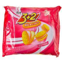 【天顺园店】康师傅3+2酥松夹心饼干草莓牛奶味354g(编码:289849)
