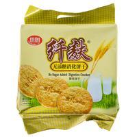 思朗纤麸无糖消化饼干五谷杂粮燕麦全麦粗粮瘦身减肥早餐食品380g