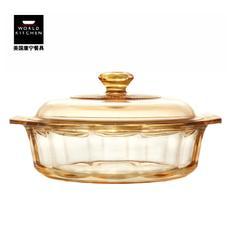美国康宁璀璨晶钻锅进口透明玻璃锅 1.5L炖锅煲汤锅 VS-15-ID