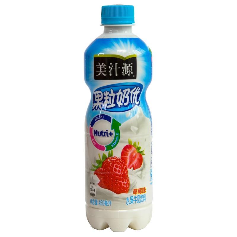 【天顺园店】美汁源果粒奶优清新草莓450ml(编码:457544)