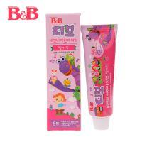 韩国保宁B&B儿童护齿牙膏(草莓味)90g 3岁+ 原装进口 可吞咽可食用