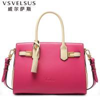 威尔萨斯 奢侈品牌牛皮铂金包 商务包袋手提包VA3199