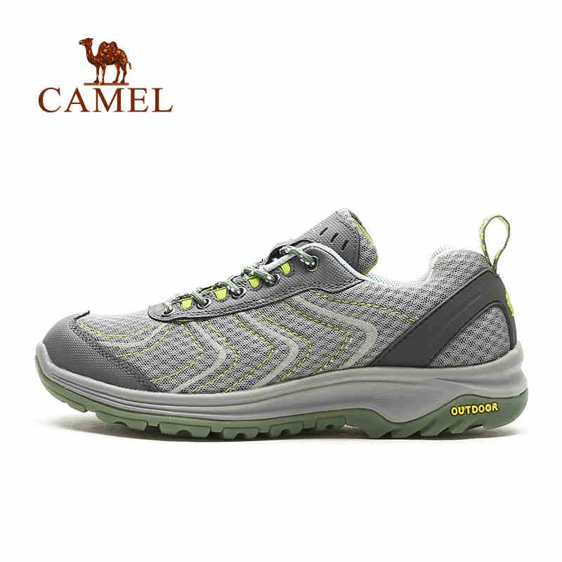 camel骆驼户外徒步鞋 春夏新款男款网面透气耐磨徒步鞋