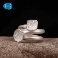 PH7 正品专柜S990足银银饰 相伴双圈戒指 时尚饰品女士戒指