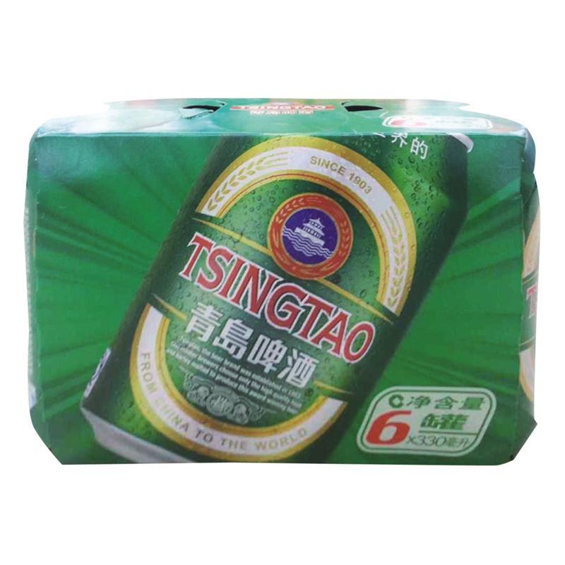 【天顺园店】青岛优质听装啤酒330ml*6(编码:505941)