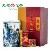 天福茗茶 金族世家 云南凤庆滇红茶叶瓷茶罐装 正品经典礼盒100G