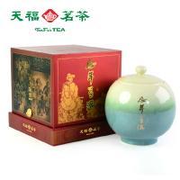 天福茗茶 普洱熟茶 云南普洱茶叶陈年老茶 圆形陶瓷390克罐装高档