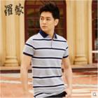 罗蒙男士短袖t恤夏季POLO衫英伦翻领商务休闲2015新款纯棉2T54192