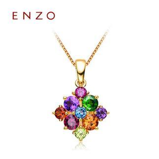 ENZO   18K黄金石榴石托帕石彩色宝石吊坠(不含链)
