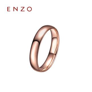 ENZO  18K玫瑰金素金情侣对戒 经典男女戒指浪漫婚戒指环