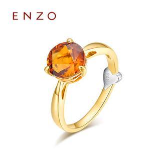 ENZO   18K黄金三爪镶嵌彩宝宝石女戒