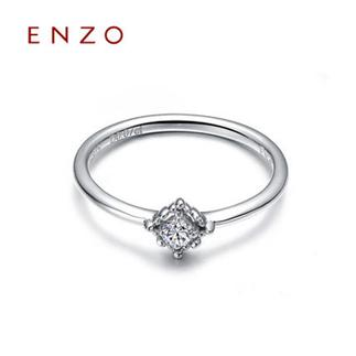 ENZO   9K金四爪钻石戒指女戒