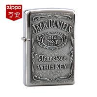 Zippo芝宝 杰克丹尼锡标签打火机250JD427 银色