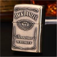 Zippo芝宝 纯铜杰克丹尼酒标打火机 254BJD428 铜色